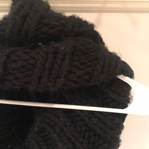 Thick Black Sweater Scarf Infinity